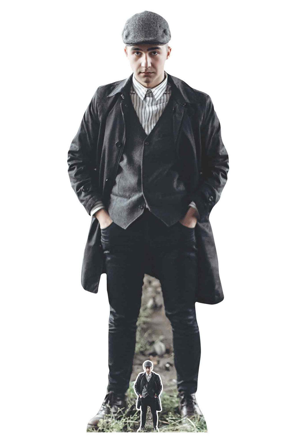 Peaky Blinder Style Gangster with Striped Shirt Cardboard Cutout   Standup