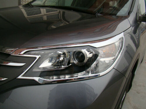 ABS Chrome Front Head light lamp cover trim 2pcs for Honda CRV CR-V 2012-2014