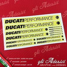 Set 13 Adesivi DUCATI Performance OLD moto Giallo e Nero