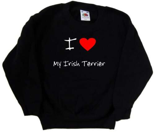 I Love Heart My Irish Terrier Kids Sweatshirt