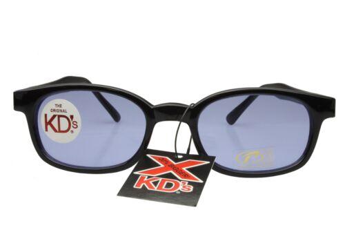 X KD/'s Sunglasses Original Biker Shades Motorcycle Black Blue 1012