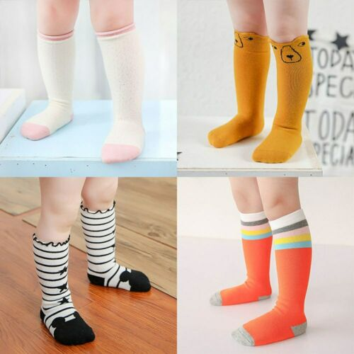 1pair Cotton Socks Animal Knee High Kids Anti Slip Leg Warmers Infant Socks nEW