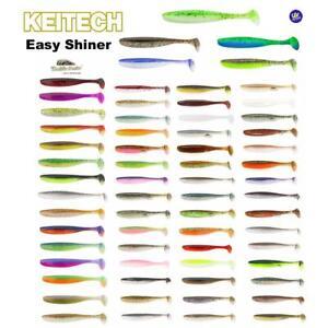"""Keitech Easy Shiner (2"""" 3"""" 3,5"""")  4"""" 4,5"""" 5"""" 6,5"""" 8""""  Zander Hecht alle Farben"""