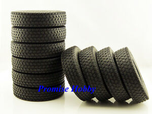 Rubber-tire-tyre-set-10pcs-for-1-14-1-14-Tamiya-tractor-truck-T4