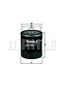 MAHLE Oil Filter For FIAT LANCIA ALFA ROMEO AUTOBIANCHI CITROEN Brava Sw 1109AR