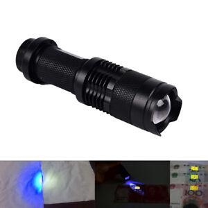 UV-Ultraviolett-LED-Taschenlampe-Schwarzlicht-Licht-395-nm-Inspektionslampe-Torc