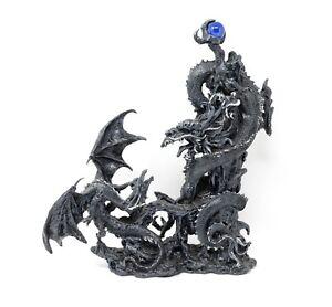 L'incubo del Drago Medioevo Drago nero orientale vs occidentale Statua fantasy