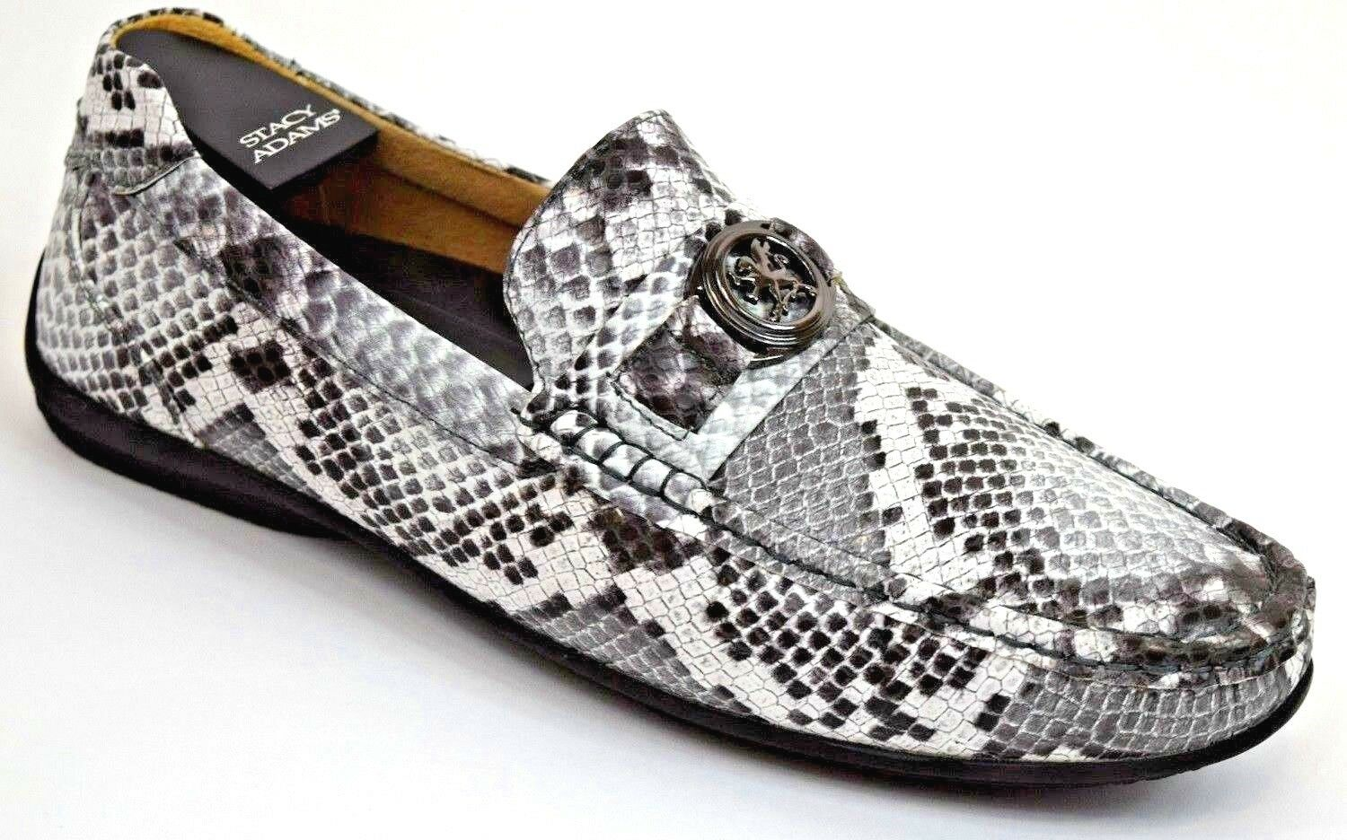 Men's Moc Toe Casual shoes Slip On Loafers Driving Moccasins White Multi 25185