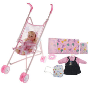 Prettyia Adorable Stroller Walker with Speaking Baby Doll ...