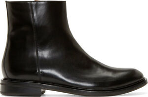 8a0cd0bb377 Details about Paul Smith Black Italian Leather Zipper Mens Boots Size 12