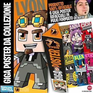 Nuovissimi Giga Poster! Lyon formato GIGANTESCO! Limited edition da collezione