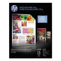 Hp Color Laser Brochure Paper, 97 Brightness, 40lb, 8-1/2 X 11, White, 150 Shts on sale