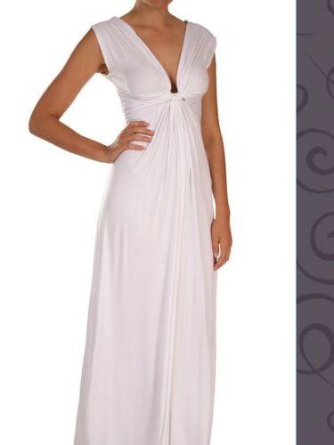 M White Flattering Summer Maxi Dress