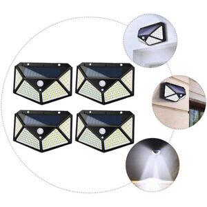 4x LED Lampe Solaire éclairage Extérieur Détecteur de Mouvement Solaire Applique