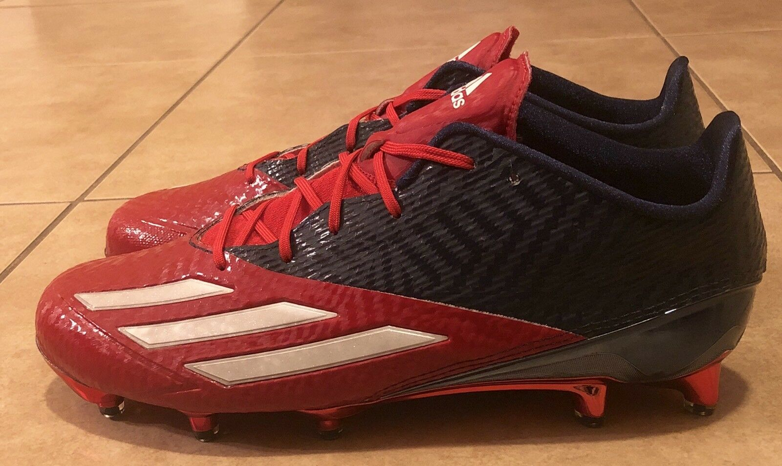 a3fdf4874 adidas Adizero 5 Star 5.0 Low Football Cleats Blue Red Men s Size 11 ...