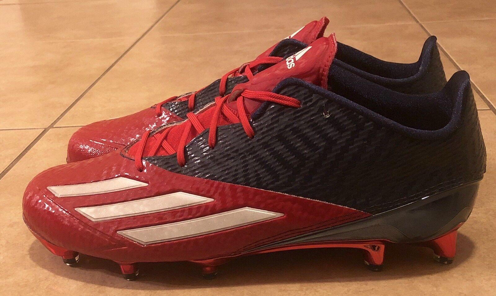 174e546c30d adidas Adizero 5 Star 5.0 Low Football Cleats Blue Red Men s Size 11 ...
