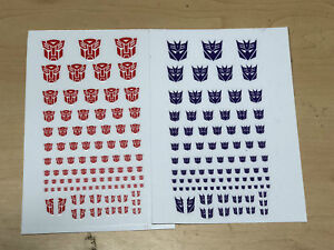Transformers G1 Decepticons //Autobots 90 Symbol Sticker Decal for Custom COOL