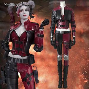 Halloween Joker And Harley Quinn Costumes.Details About Injustice2 Miss Joker Harley Quinn Costume Cosplay Halloween Fancy Dress Game