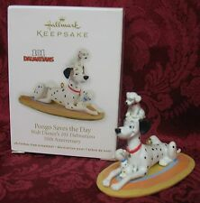 HALLMARK 2011 DISNEY ORNAMENT~PONGO SAVES THE DAY~101 DALMATIANS~50th ANN.