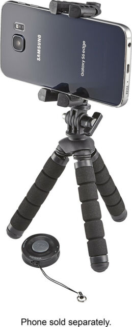 Insignia- Tripod and Bluetooth Shutter Remote for Most Cell Phones