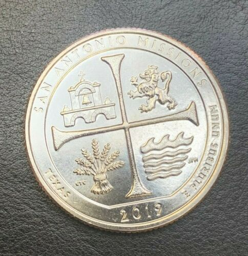 New UNC Condition Coin 2019 W SAN ANTONIO NP 25c Quarter WEST POINT