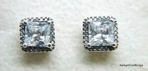 2794e1998 Image is loading NWT-AUTHENTIC-PANDORA-SILVER-EARRINGS-TIMELESS-ELEGANCE -290591CZ-