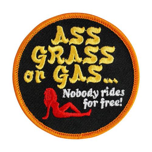 BILTWELL ASS GRASS OR GAS LOGO PATCH **BRAND NEW**