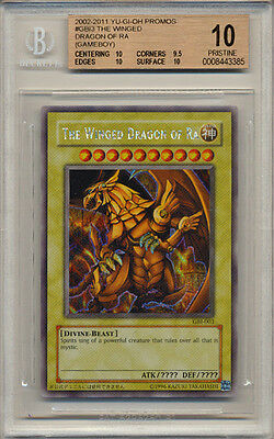 BGS 10 Yugioh Secret Rare Holo WINGED DRAGON OF RA GBI-003 GEM MINT PRISTINE!