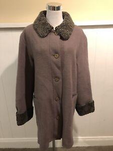 Hilary V liner Sz Brown Forreste Button 10 100 Wool Pure Radley Kvinders rwqSnTr0