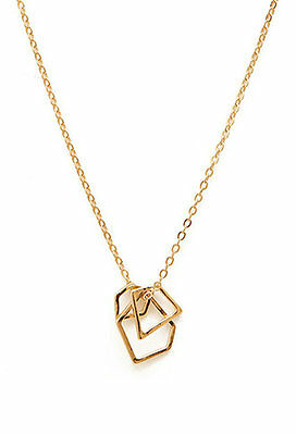 Fashion  Gold plated  Geometry  Pendant Long necklace Brand