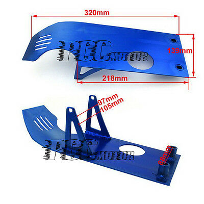 ALUMINUM SKID PLATE ENGINE PIT DIRT BIKE CRF XR 50 XR50 CRF50 BLUE M SP03