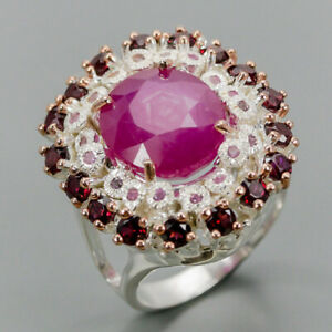 Ruby-Ring-Silver-925-Sterling-Handmade14x12mm-Size-9-R131301