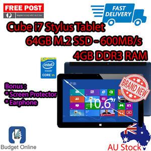 Cube-i7-Stylus-10-6-034-Intel-Core-M-4GB-64GB-Screen-Protector-Earphone-Bundle
