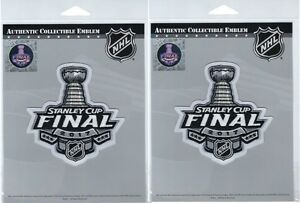 2017 STANLEY CUP FINAL JERSEY PATCH SET OF TWO (2) NHL OFFICIALLY LICENSED