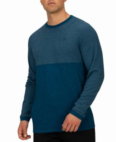 Hurley Mens T-Shirt Blue Size Medium M Thermal Knit Crewneck Tee $39 #472