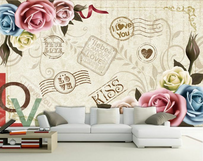 3D graffiti flower 40 WallPaper Murals Wall Print Decal Wall Deco AJ WALLPAPER