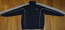 Adidas Track Jacket 3 stripe sleeves Black size L Breakdance 90's style full zip