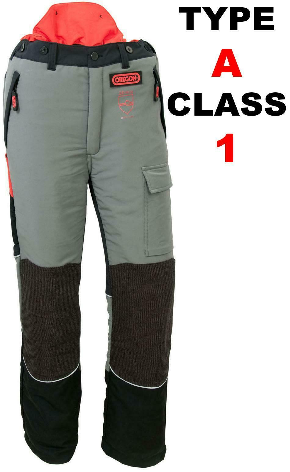 OREGON 295400 CLASS 1 TYPE A FRONT PROTECTION CHAINSAW TROUSERS 20M S Größe LARGE