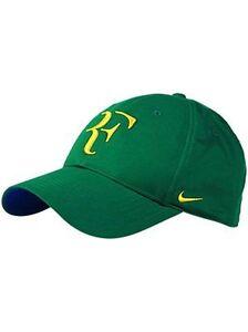 Cap piso Villano  Nuevos Nike Rf Roger Federer Gorra Verde Brasil 371202-302 Edición Limitada  Rara | eBay