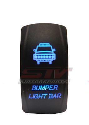 Dual BackLit BLUE BUMPER LIGHT Rocker Switch POLARIS TERYX Maverick Commander