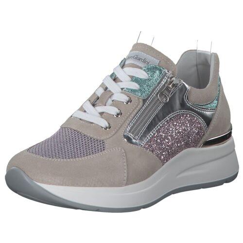 Nerogiardini Damen Sneakers Turnschuhe Freizeit E010500d-112 Grau Rosa Neu