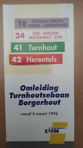 ► De Lijn - lijnfolder omleiding Turnhoutsebaan Antwerpen (vanaf 4 maart 1996)