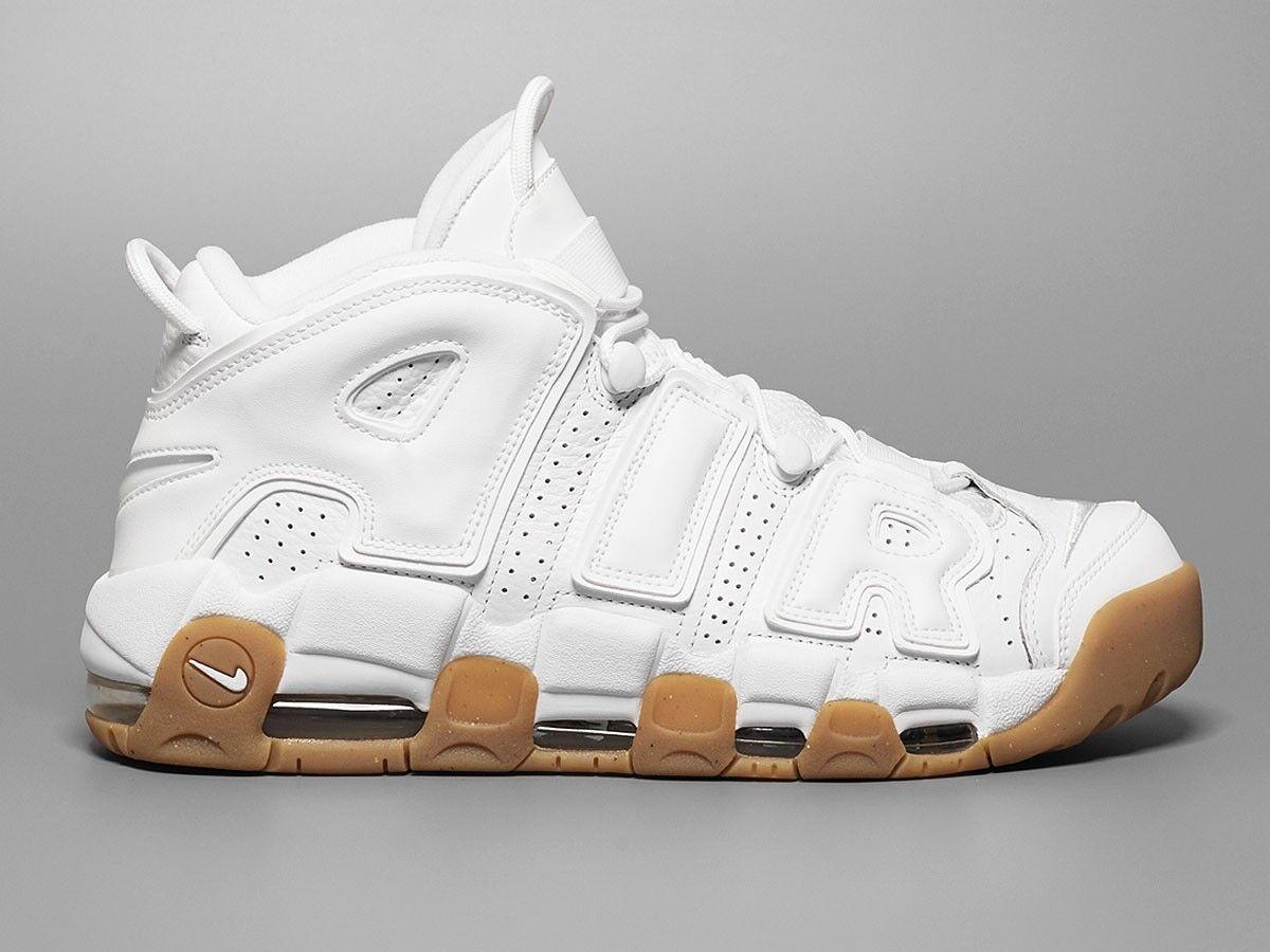 Nike Air More Uptempo White Gum Size 9. 414962-103 Jordan Kobe Scottie Pippen