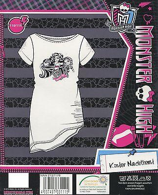 Monster High TOP Nachthemd Schlafshirt Pyjama cool Jeans 110 116 122 128 134 140