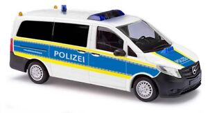 Busch-51127-MB-Vito-Motorway-Police-Funkstreife-Model-1-87-H0