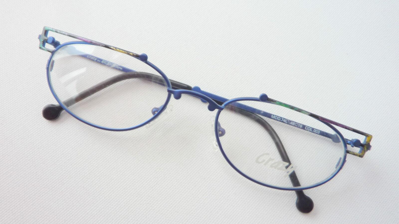 Ausgefallene farbige Balken-Brille für für für Frauen Gestell blau verziert neu Grösse M    Verkauf    Vorzüglich    Um Sowohl Die Qualität Der Zähigkeit Und Härte  6d3865