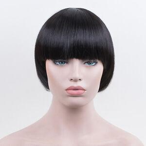 Bowl Cut Extreme Bob Hair Style Mushroom Head Black Wig Fashion