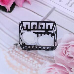 1-12-Dollhouse-miniature-kitchen-metal-rack-plastic-dish-plates-JC-a
