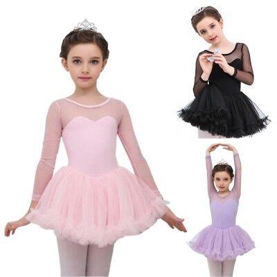 DE Lagerhaus Mädchen Tutu Kinder Ballettanzug Tütü Trikot Tanzkleid Trikot 4-15J