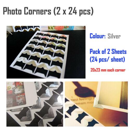 Scrapbook hágalo usted mismo Fieltro Álbum De Fotos Recuerdos Personalizados impresiones de fotos Pegatina de esquina